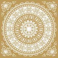 Monochromatic ethnic round ornament Abstract pattern Circle background N5