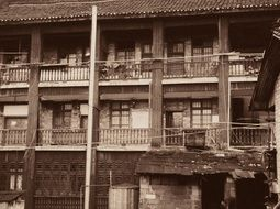 old architecture building Asia