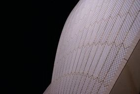 architecture of the building of the Sydney Opera House, close-up