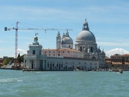 view from the water on a small Venice