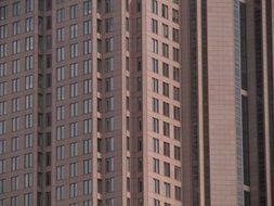 High office buildings made of bricks