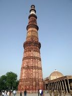 The Qutb Minar is the tallest brick minaret in the world