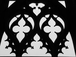 gothic ornament of cathedral window, germany, ulm