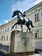 hussar sculpture on horse