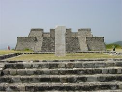 Pyramid ruins in Mexico