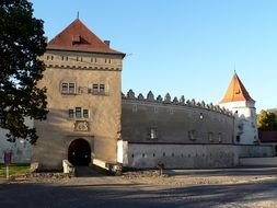 Historical castle in Slovakia city
