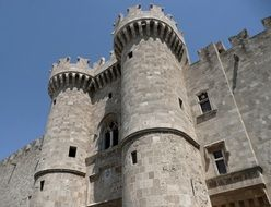 Palace of the Grandmasters of Rhodes in Greece