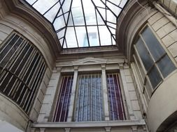 building with glass roof in Paris