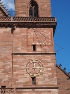 clock of Basel Cathedral