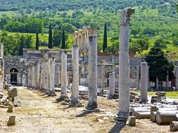 Ancient ruins of marble columns