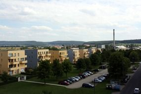residential complex in the city