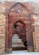 Qutab Minar complex of red sandstone