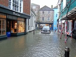 flooded street of fowey