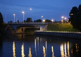 oulu at night