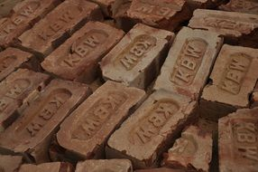 old bricks in a factory in India
