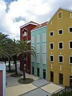 colorful houses in curaçao