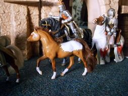 knights on horseback figurines toys