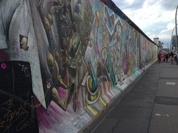 Berlin wall with graffiti