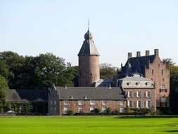 Castle near the forest in the Netherlands