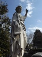 the statue of the Oakland cemetery