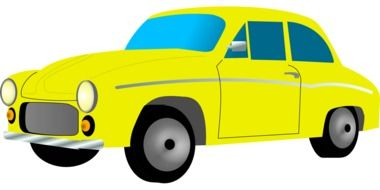 yellow car taxi drawing