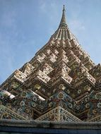 temple with a sharp roof in thailand