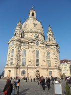 Beautiful frauenkirche in Dresden