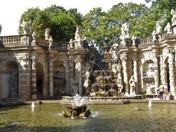 decorative fountains in Dresden