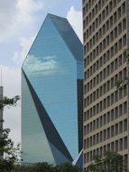 skyscraper with a glass facade in dallas