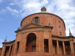 red brick cathedral in Italy