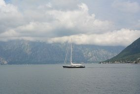 sailing boat in Montenegro