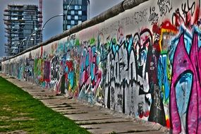 painted berlin wall monument