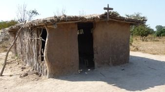 hut church in africa view