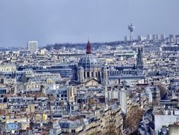 incredible view of paris from a bird\'s eye view