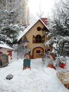 house of fairy tales in the snow