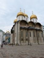 imposing orthodox cathedral moscow russia