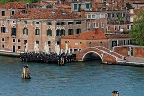 channel and bridge in venice