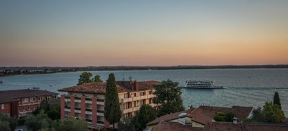 panoramic photo of Lake Garda