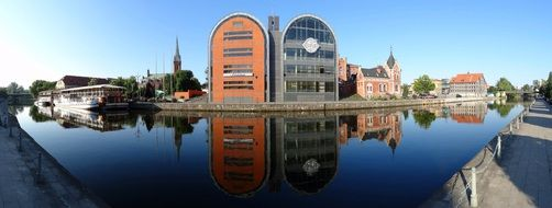 bydgoszcz buildings river view