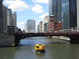 chicago river boat