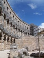 wall amphitheater in croatia