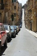 narrow street of old town in malta