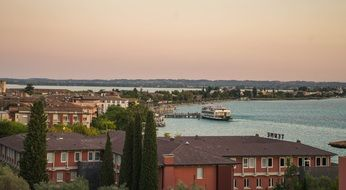 Town of Sirmione on the shores of Lake Garda