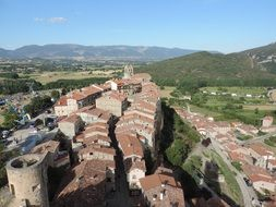 medieval town top view, spain, castilla