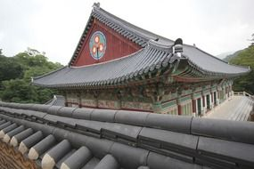 beautiful temple roof