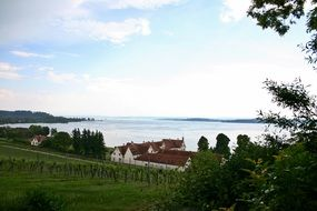 lake constance bank panorama landscape