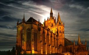 cathedral in Erfurt, Germany