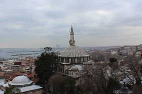 panorama of istanbul on a cloudy day