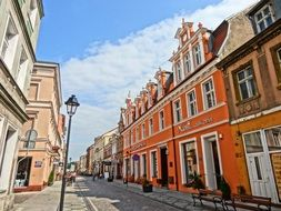 historic street in the city of bydgoszcz