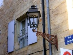 french gas lamp